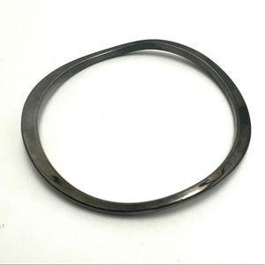 3/$20 wavy gunmetal bangle bracelet